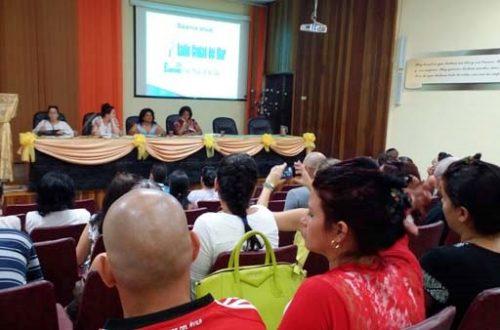 Asamblea de balance de la Dirección Provincial de Radio en Cienfuegos (Foto: RLC)