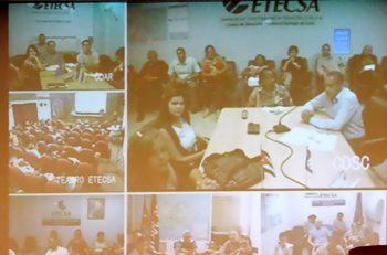 Videoconferencia durante el Pleno de la Upec (Foto: YAG)