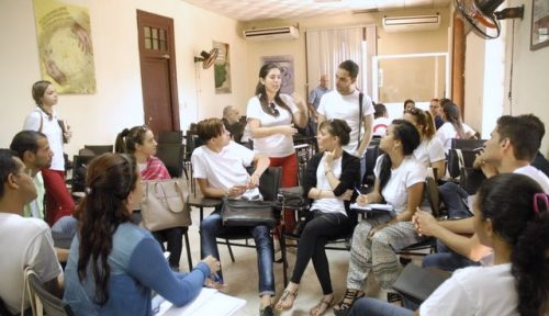 Vista de una sesión de trabajo del Encuentro de Jóvenes Periodistas (Foto: Yoandry Avila Guerra)