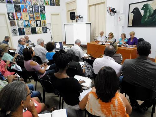 Conferencia de prensa en la que se anunció el programa de actividades de la Jornada por el Día de la Prensa Cubana 2017 (Foto: Yoandry Avila Guerra)