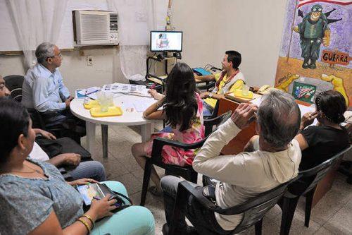Sesiones del jurado en la Casa de la Prensa de Las Tunas (Foto: Rey López)