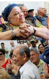 Isabel Moya Richards y Eduardo Yassels, dos de los premiados con el Premio José Martí este año, durante la conferencia de prensa donde se anunciaron los laureados (Fotos: Yoandry Avila Guerra)