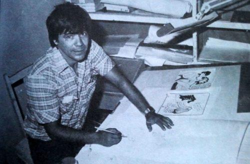 Manuel en DDT, la publicación humorística de Juventud Rebelde, donde fue un puntal durante 25 años