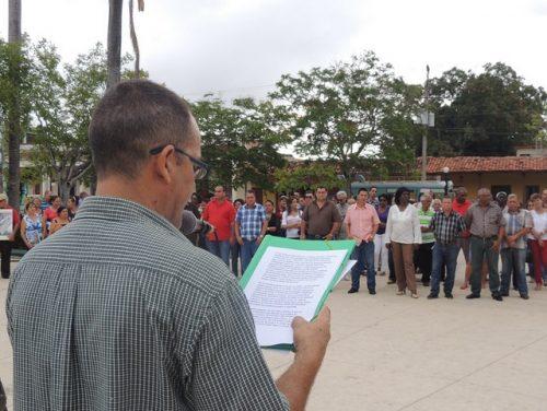Acto en Ciego de Avila por el Día de la Prensa Cubana (Foto: EDRB)