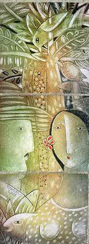 Motivos de la naturaleza y personajes del Valle de Guamacaro, su lugar natal, en la provincia de Matanzas