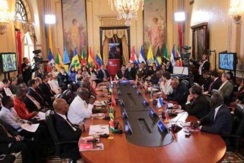 Sesión de la XIV Cumbre ALBA-TCP en el Palacio de Miraflores, Caracas (Foto: Prensa Bolivariana)