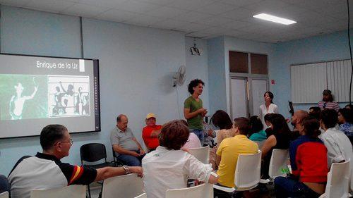 Coloquio sobre fotografía en la Facultad de Comunicación de la Universidad de La Habana (Foto: YAG)