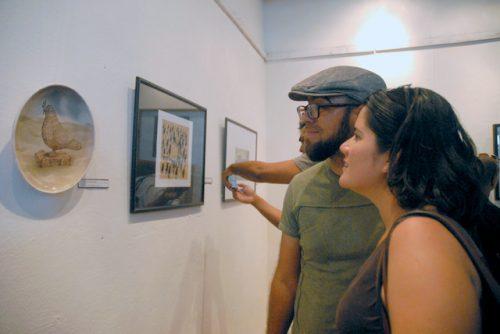 Expo de Grandes premios en ediciones de la Bienal de Humorismo Gráfico de San Antonio de los Baños (Foto: YAG)