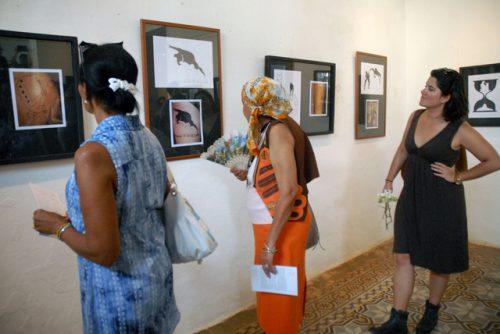 Una de las exposiciones de humorismo gráfico de la XX Bienal (Foto: Yoandry Avila Guerra)