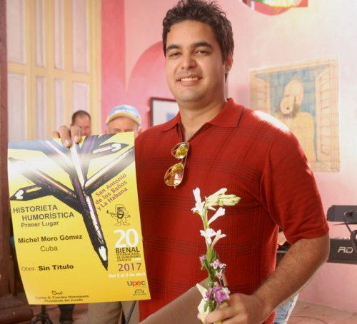 Michel Moro, primer lugar en Historieta Humorística (Foto: YAG)