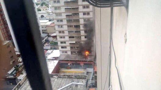 edificio impacto atentado caracas