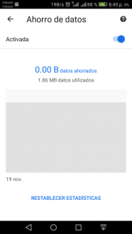 Usa el modo ahorro de Google Chrome