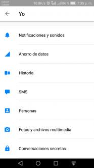 Ahorrar datos en Facebook Messenger