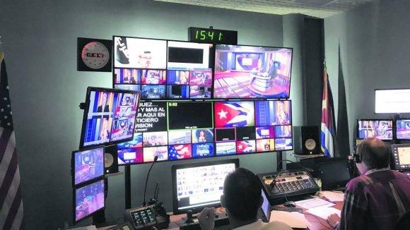 Estudios de TV Martí en Doral, Florida Foto Archivo
