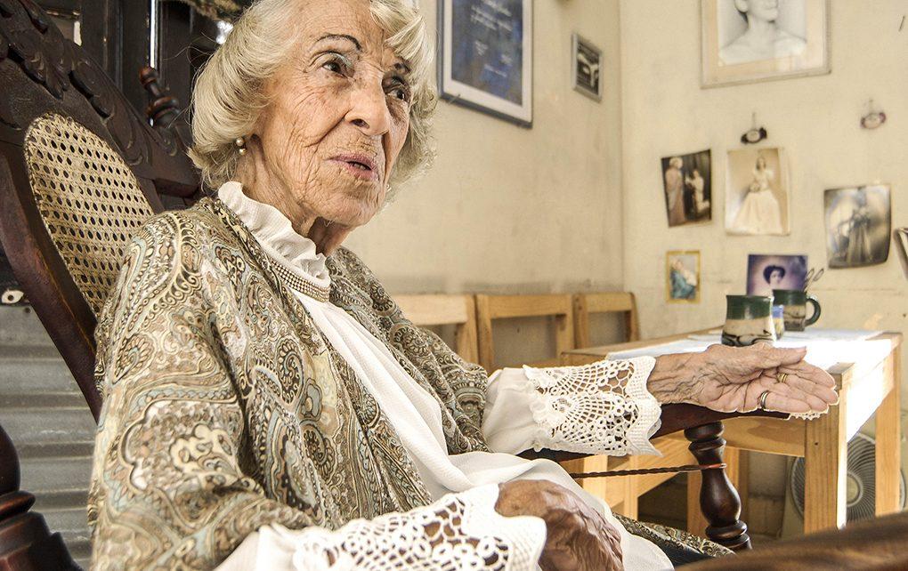 Entrevista realizada a Herminia María Sanchez Quintana, quien fuera reconocida por su trabajo actoral a la edad de 95 años con el Premio de Teatro 2018.