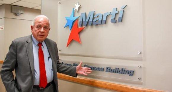 Tomás Regalado en el edificio Mas Canosa de Radio y TV Martí. Foto: Archivo