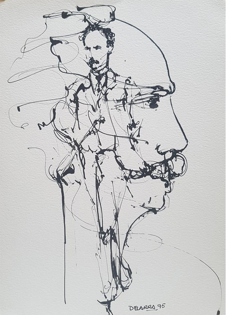 Apuntes (tinta sobre cartulina) José Delarra - Ampliar imagen